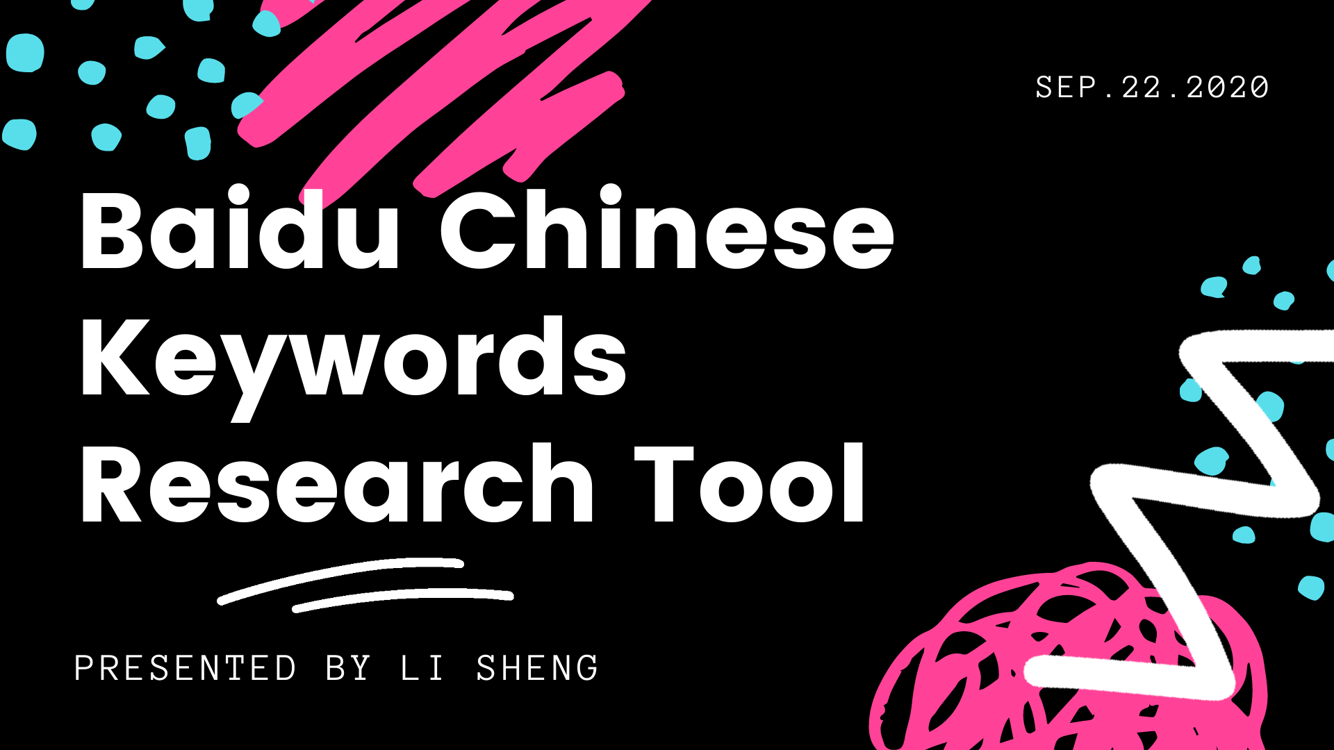 Baidu Chinese Keywords Research Tool