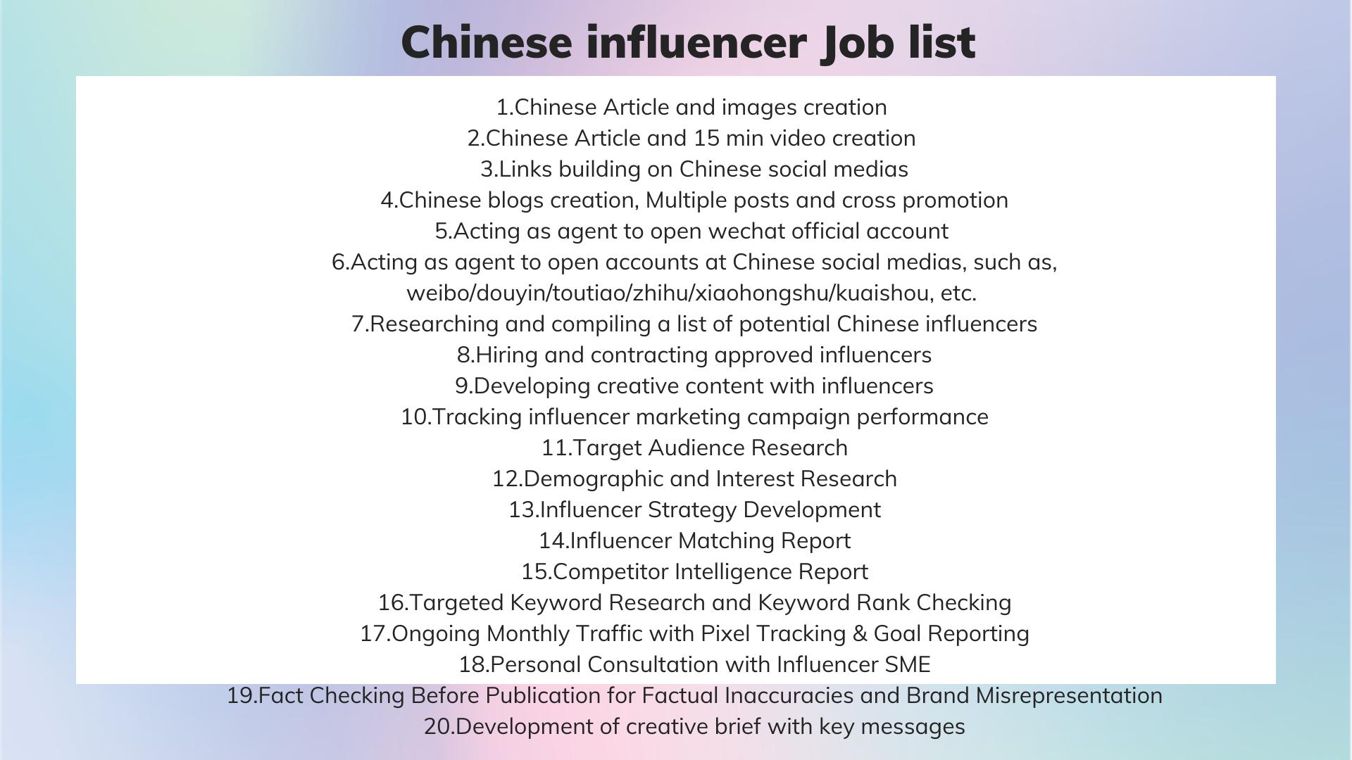 freelancer job list